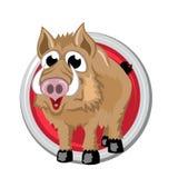 beer Oriënteer horoscoopteken in cirkel Chinese symbolen Royalty-vrije Stock Fotografie