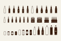 Free Beer Package Icon Set: Bottle, Can, Box Stock Image - 82997481