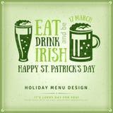 Beer Party Invitation, Irish Typography Emblem Stock Photos