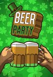 Beer party poster Royalty Free Stock Photo