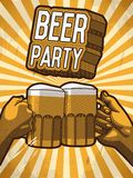 Beer party poster Stock Photography
