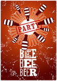Beer Party typographic retro grunge poster. Vector illustration. Royalty Free Stock Photography