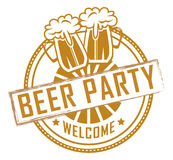 Beer Party Welcome Royalty Free Stock Photo