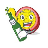 With beer passion fruit mascot cartoon. Vector illustration Royalty Free Stock Images