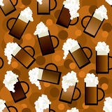 Beer pattern Royalty Free Stock Photography