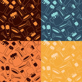 Beer pattern. Beer items seamless pattern. Vector texture royalty free illustration