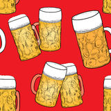Beer pattern. party seamless wallpaper Stock Photography