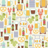 Beer pattern Royalty Free Stock Images