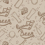 Beer pattern Royalty Free Stock Photos