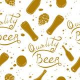 Beer pattern Royalty Free Stock Image