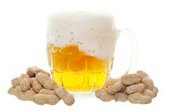 Beer and Peanuts Royalty Free Stock Photography
