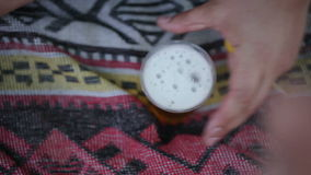 Beer on picnic Stock Photography