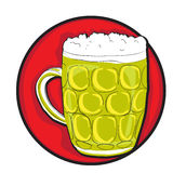 Beer pint clip art Stock Images