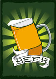 Beer pint poster. For St. Patricks Day Stock Photos