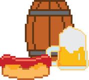 Beer. Pixel-art or 8-bit style Royalty Free Stock Photography