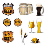 Beer pizza icon Stock Photography