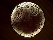Beer planet. Glass of beer from upper point of view Royalty Free Stock Image