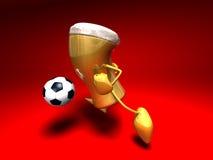 Beer playing football Stock Image