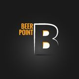 Beer point design background Stock Photography