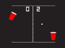 Beer Pong Arcade Royalty Free Stock Photos