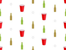 Beer Pong Background Seamless Pattern 2 Stock Image