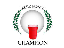 Beer Pong Champion Stock Photo