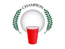 Beer Pong Champion 2 Royalty Free Stock Image