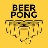 Beer Pong Drinking Game Stock Photos