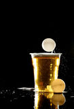 Beer pong game Stock Images