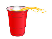 Beer Pong Shot Stock Photos
