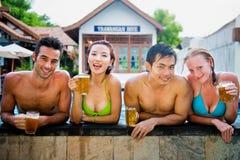 Beer In Pool Royalty Free Stock Photo
