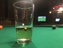 Beer; pool royalty free stock photography