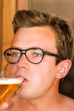 Beer portrait Royalty Free Stock Image