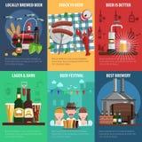 Beer Poster Set Stock Photos