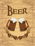 Beer poster Stock Photo