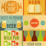 Beer Posters Stock Photo