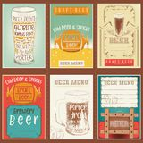 Beer Posters Set Royalty Free Stock Photography
