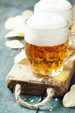 Beer and Potato Chips Stock Image