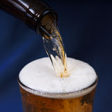 Beer poured. Royalty Free Stock Image
