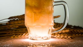 Beer is Poured Over the Edge stock footage