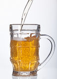 Beer pouring into beer mug  Stock Photo