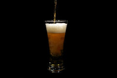 Beer pouring into a glass Royalty Free Stock Photography