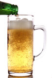 Beer Pouring In Glass Mug Stock Image