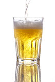 Beer pouring Royalty Free Stock Images