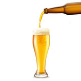 Beer Pouring Realistic Royalty Free Stock Image