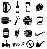Beer pub icons set Royalty Free Stock Photo