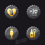 Beer and pub icons Royalty Free Stock Photos