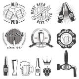 Beer pub labels, badges and icons collection. Set of the beer pub labels, badges and icons collection vector illustration