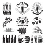 Beer pub labels set. Logo design elements. Brewery. Beer label, brewery logo and badge, vector illustration royalty free illustration