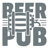 Beer pub logo, simple gray style. Beer pub logo. Simple illustration of beer pub vector logo for web Royalty Free Stock Photography